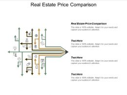 Real Estate Price Comparison Ppt Powerpoint Presentation File Show Cpb
