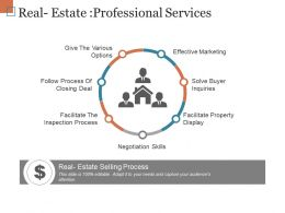Real Estate Professional Services Ppt Slides Download