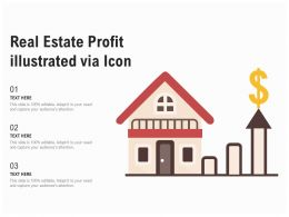 Real Estate Profit Illustrated Via Icon