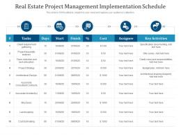 Real Estate Project Management Implementation Schedule