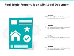 Real Estate Property Icon With Legal Document