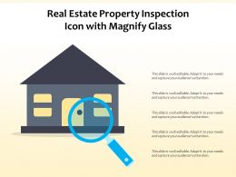 Real Estate Property Inspection Icon With Magnify Glass