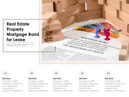 Real Estate Property Mortgage Bond For Lease
