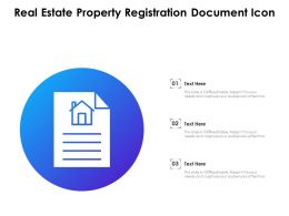 Real Estate Property Registration Document Icon