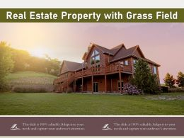 Real Estate Property With Grass Field
