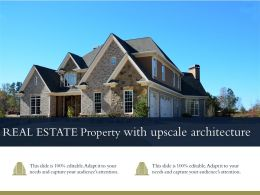 Real Estate Property With Upscale Architecture