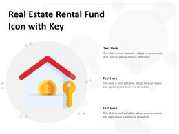 Real Estate Rental Fund Icon With Key