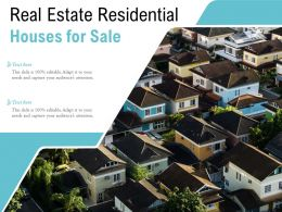 Real Estate Residential Houses For Sale