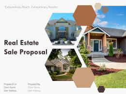 Real Estate Sale Proposal Powerpoint Presentation Slides