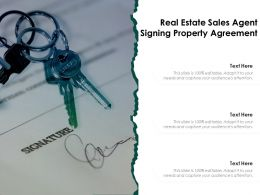 Real Estate Sales Agent Signing Property Agreement