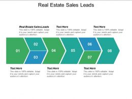 Real Estate Sales Leads Ppt Powerpoint Presentation Ideas Gallery Cpb
