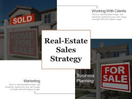 Real Estate Sales Strategy Ppt Templates