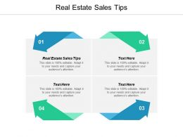 Real Estate Sales Tips Ppt Powerpoint Presentation Show Outfit Cpb