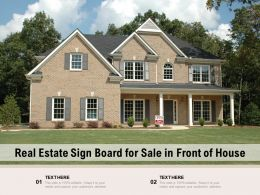 Real Estate Sign Board For Sale In Front Of House