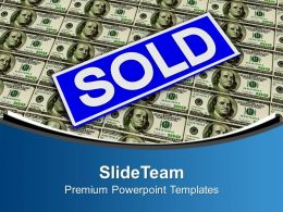 Real Estate Sold Over Dollar Marketing Powerpoint Templates Ppt Themes And Graphics 0213