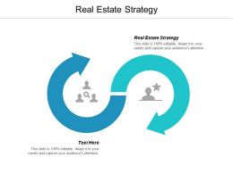 Real Estate Strategy Ppt Powerpoint Presentation Infographics Icons Cpb