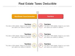 Real Estate Taxes Deductible Ppt Powerpoint Presentation Infographic Template Sample Cpb