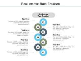 Real Interest Rate Equation Ppt Powerpoint Presentation Professional Templates Cpb