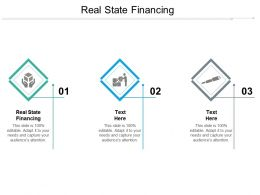 Real State Financing Ppt Powerpoint Presentation Infographic Template Backgrounds Cpb