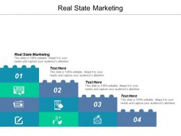 Real State Marketing Ppt Powerpoint Presentation Icon Professional Cpb