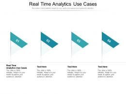 Real Time Analytics Use Cases Ppt Powerpoint Presentation Slides Icons Cpb