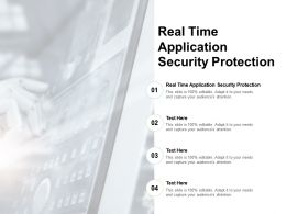Real Time Application Security Protection Ppt Powerpoint Presentation Professional Cpb