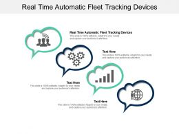 Real Time Automatic Fleet Tracking Devices Ppt Powerpoint Presentation Summary Files Cpb