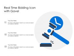 Real Time Bidding Icon With Gavel