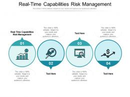 Real Time Capabilities Risk Management Ppt Powerpoint Presentation Ideas Deck Cpb