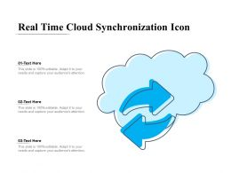 Real Time Cloud Synchronization Icon
