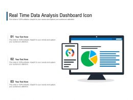 Real Time Data Analysis Dashboard Icon