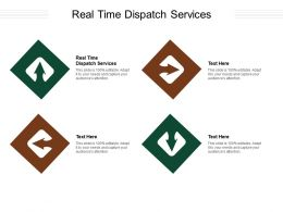 Real Time Dispatch Services Ppt Powerpoint Presentation Professional Display Cpb
