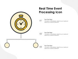 Real Time Event Processing Icon