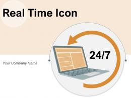 Real Time Icon Business Analytics Dashboard Processing Operation Monitoring Location