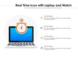 Real Time Icon With Laptop And Watch