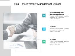 Real Time Inventory Management System Ppt Powerpoint Presentation Gallery Cpb