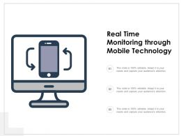 Real Time Monitoring Through Mobile Technology