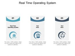 Real Time Operating System Ppt Powerpoint Presentation Outline Slides Cpb