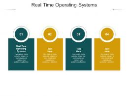 Real Time Operating Systems Ppt Powerpoint Presentation Infographics Tips Cpb