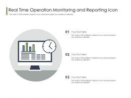 Real Time Operation Monitoring And Reporting Icon