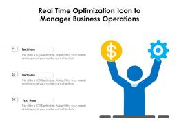 Real Time Optimization Icon To Manager Business Operations
