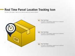 Real Time Parcel Location Tracking Icon