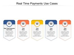 Real Time Payments Use Cases Ppt Powerpoint Presentation Outline Example Introduction Cpb