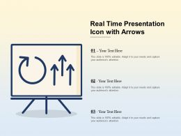 Real Time Presentation Icon With Arrows