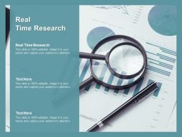 Real Time Research Ppt Powerpoint Presentation Infographics Good Cpb