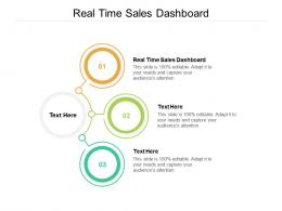 Real Time Sales Dashboard Ppt Powerpoint Presentation Icon Elements Cpb