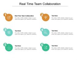 Real Time Team Collaboration Ppt Powerpoint Presentation Infographic Template Background Designs Cpb