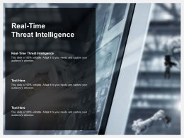 Real Time Threat Intelligence Ppt Powerpoint Presentation Infographics Graphics Cpb