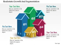 Realestate Growth And Segmentation Flat Powerpoint Design