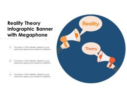 Reality Theory Infographic Banner With Megaphone